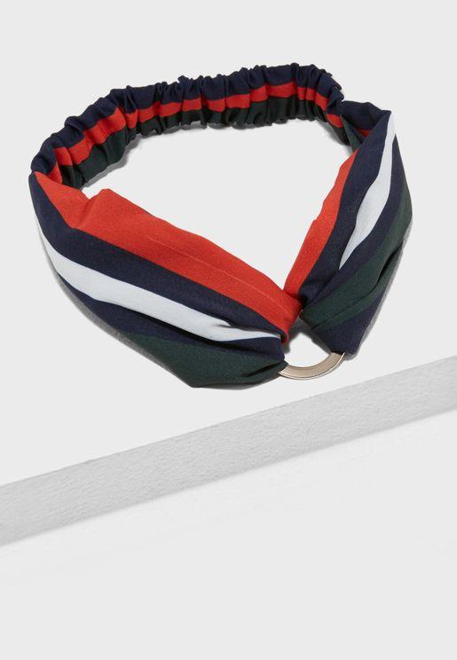 ربطة رأس مخططة