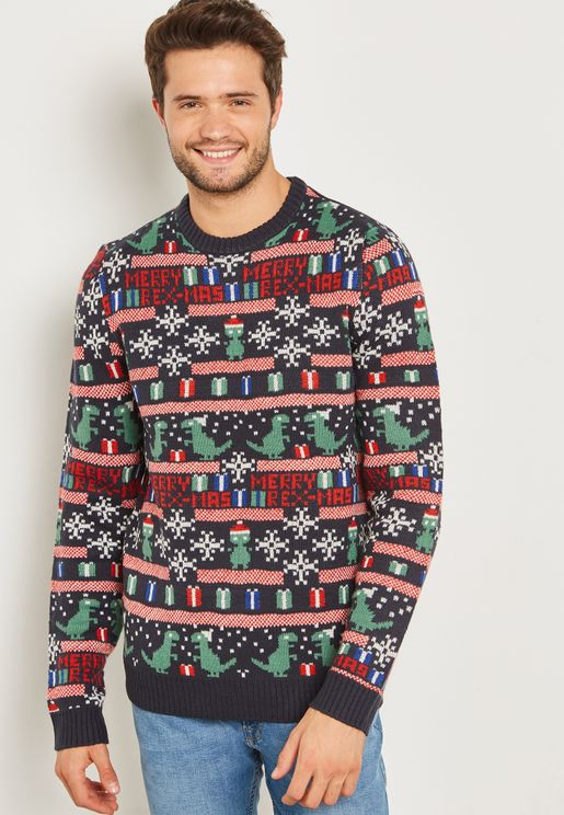 Christmas Jaquard Knitted Sweater