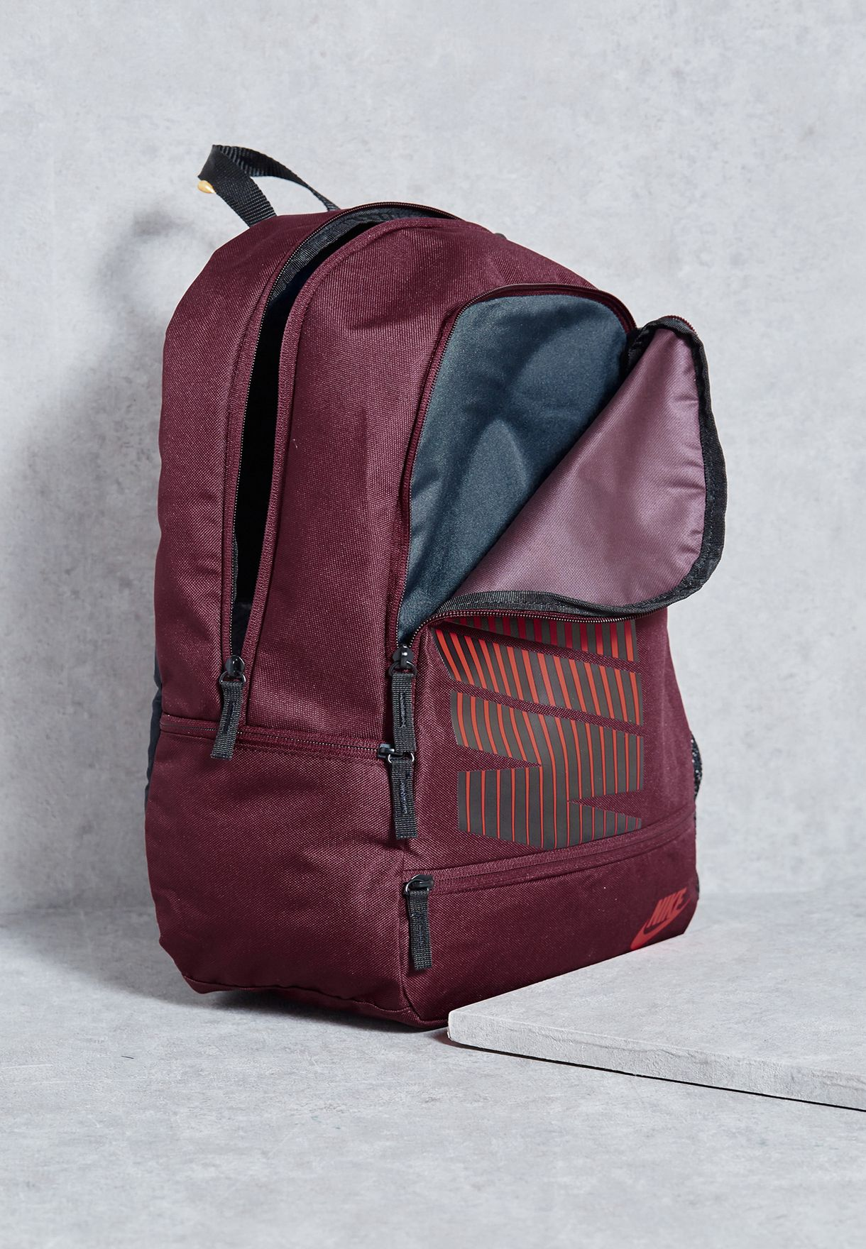 7c49043483 Shop Nike red Classic Line Backpack BA4863-681 for Women in ...