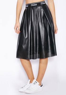 Jaded London Logo Band PU Skirt