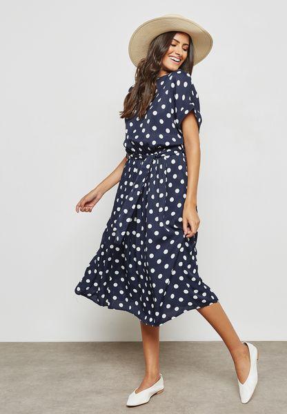 Polka Dot Printed Dress