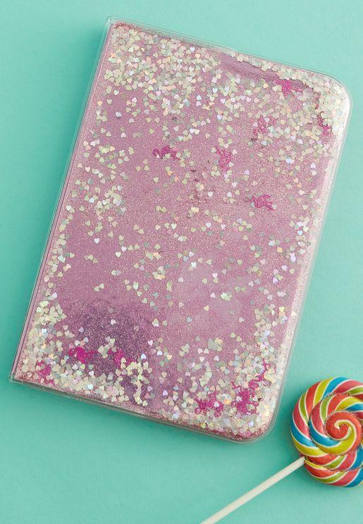Flamingo Glitter Notebook