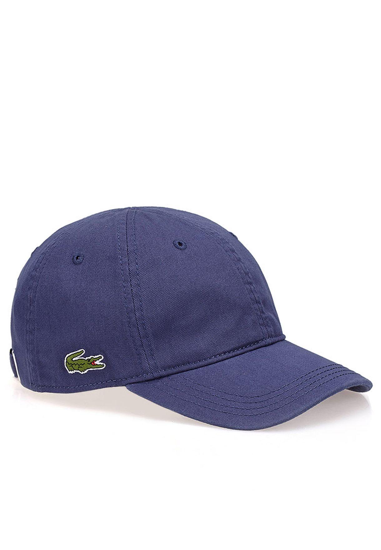 b2e5b20a491 Shop Lacoste blue Logo cap RK9811-UWU for Men in Qatar - LA014AC05WQC