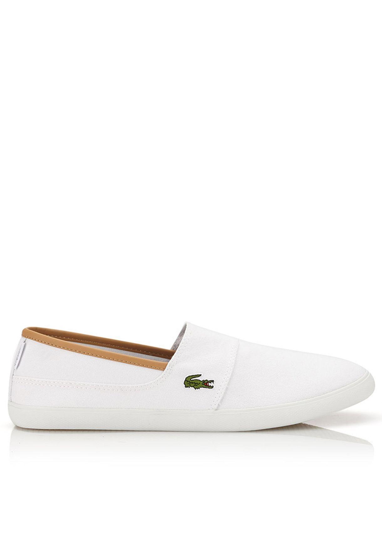 f6ac10b8e3541 Shop Lacoste white Marice EOS Slip ons 28SPM0103-21G for Men in ...