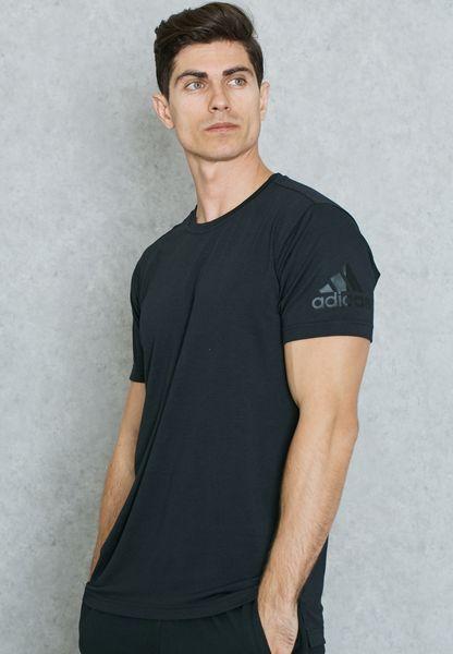 Shop adidas black FreeLift Prime T-Shirt BK6092 for Men in Globally -  AD476AT05SXQ