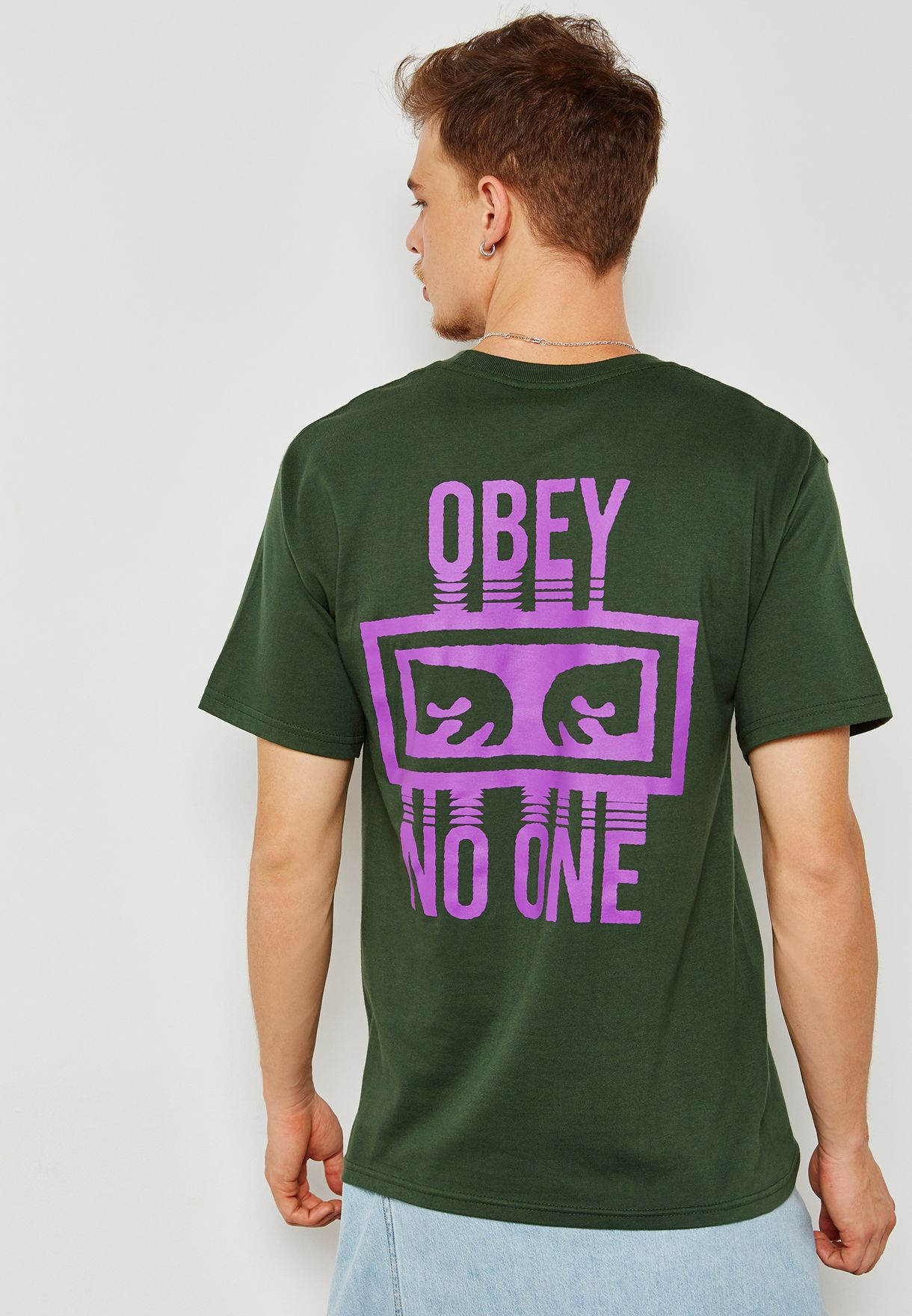Obey No One Print T-Shirt