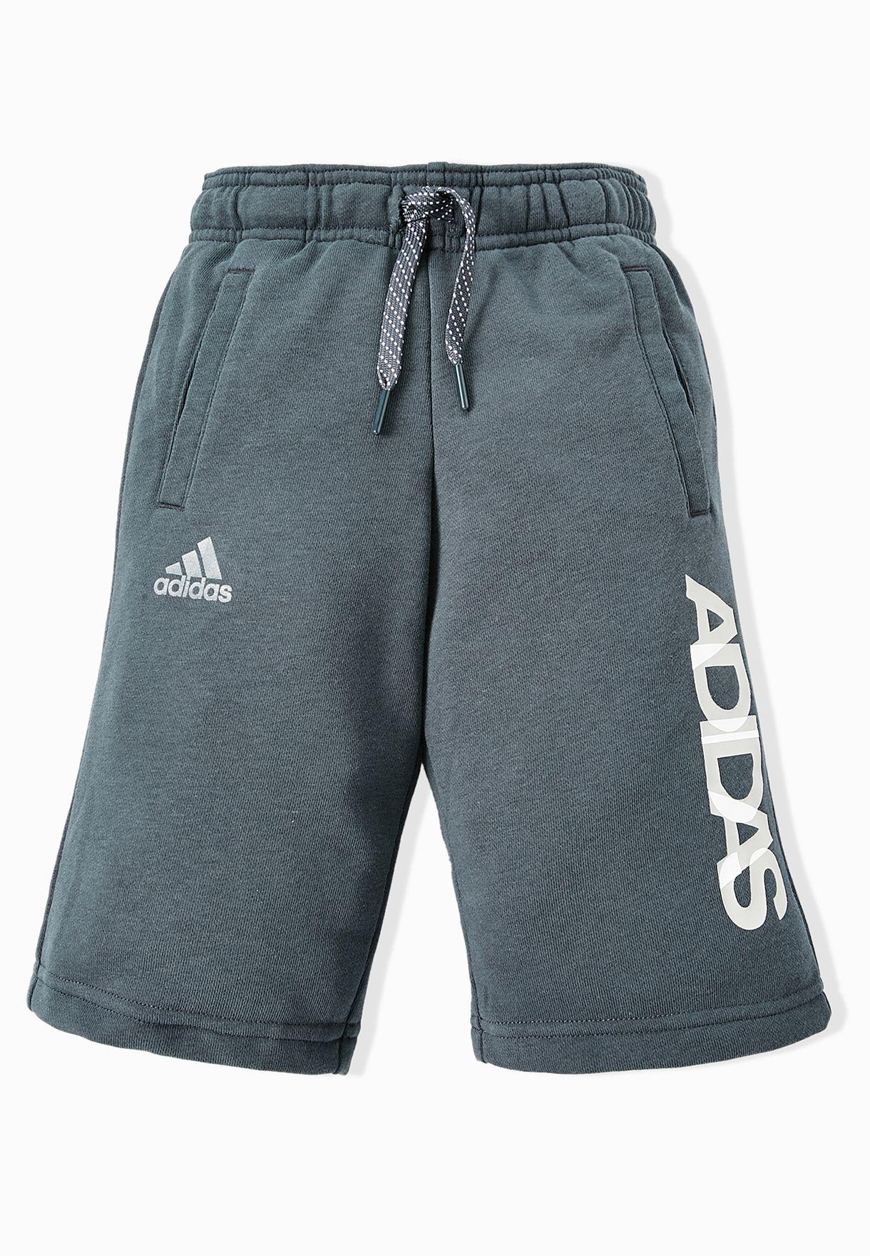 50f547ab9d Shop adidas grey Youth Linear Bermuda AJ5632 for Kids in UAE ...