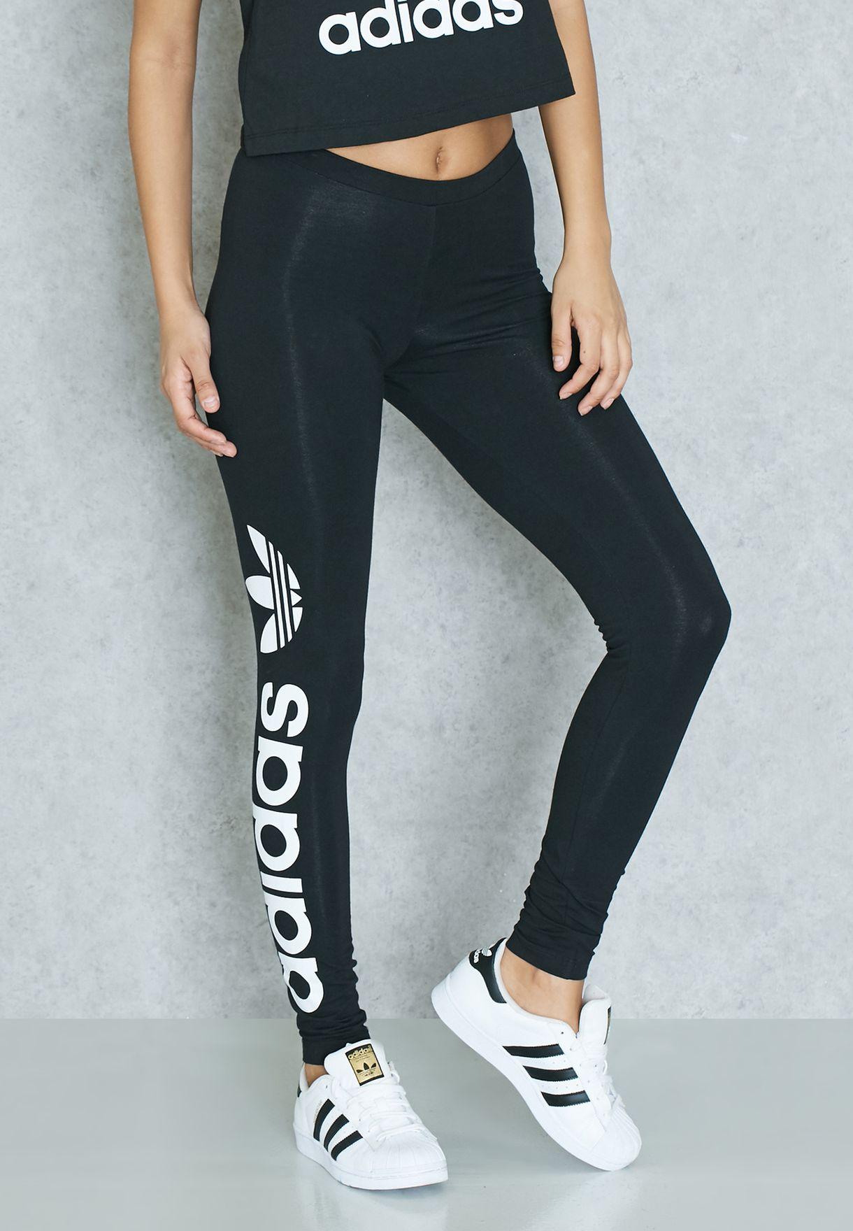 7007e6c4156 Shop adidas Originals black Linear Leggings AJ8081 for Women in UAE ...