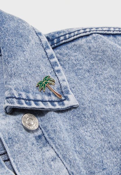 Enamel Palm Tree Pin Badge