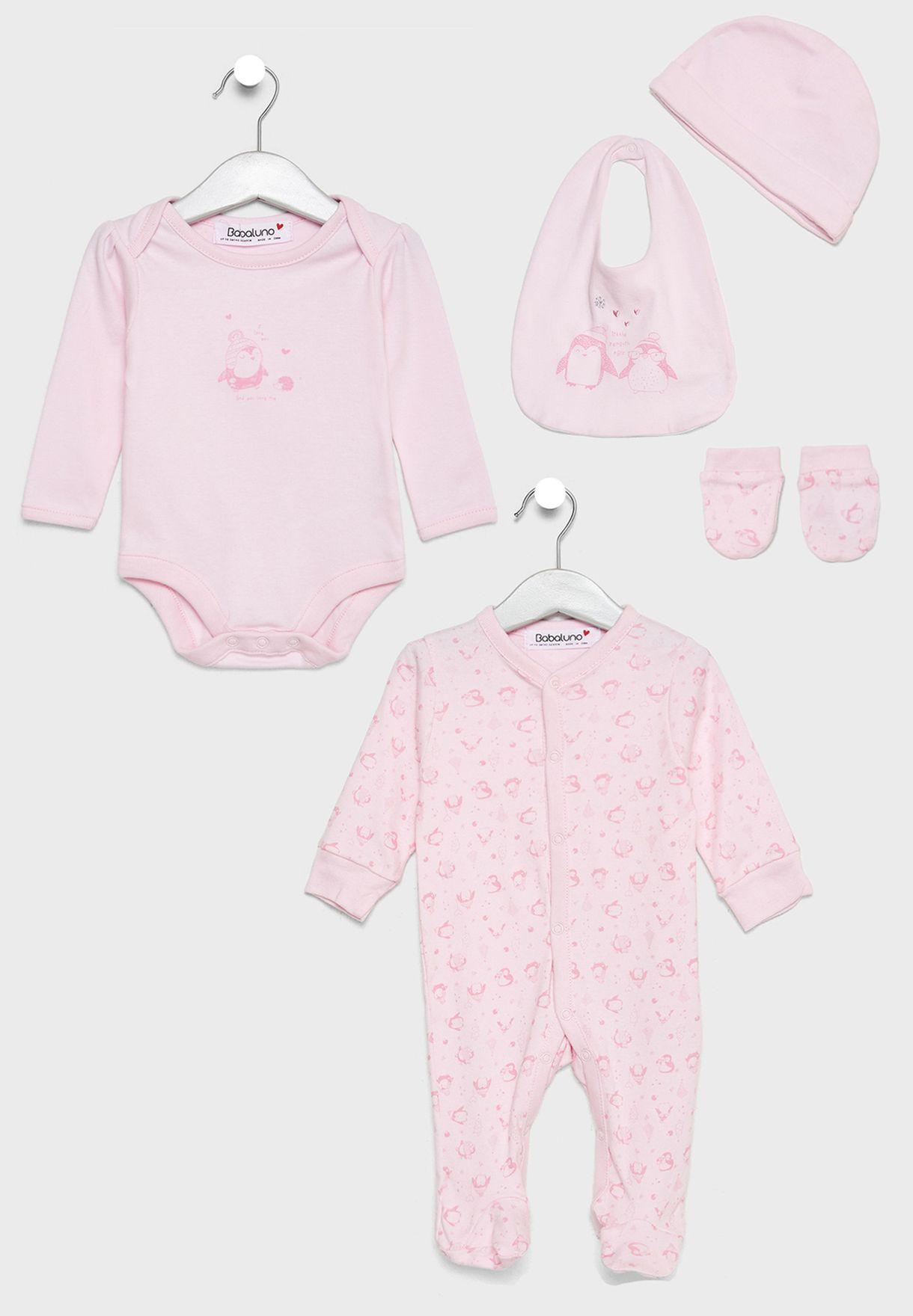 602f9a3d13578 Shop Minoti pink Infant 5 Pack Gift Set penguin 6 for Kids in Oman ...