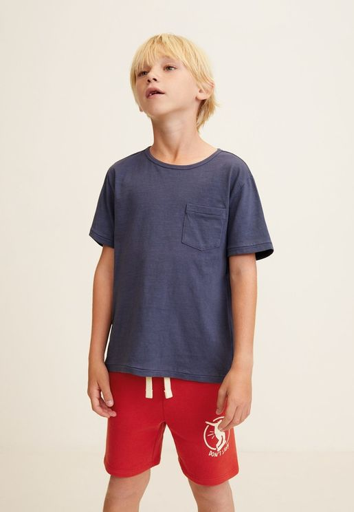 Kids Graphic Bermuda Shorts