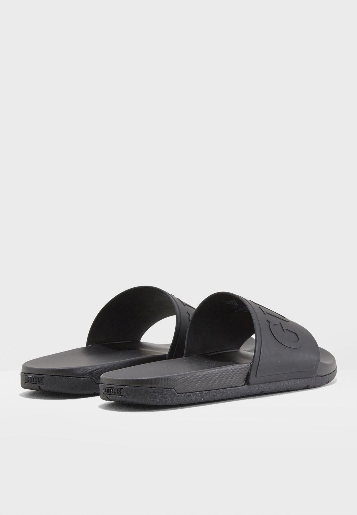 bad92e6c7f95 Shop Guess black Delfino Slipons gmDELFINO for Men in Bahrain ...