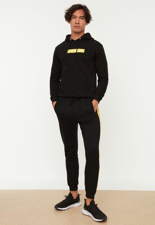 Side Stripe Drawstring Sweatpants