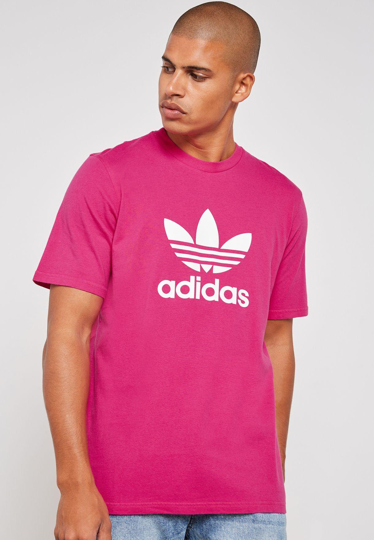 Shop adidas Originals pink Trefoil T-Shirt DH5776 for Men in Bahrain -  AD478AT05KPU 38ce39cb0dbf