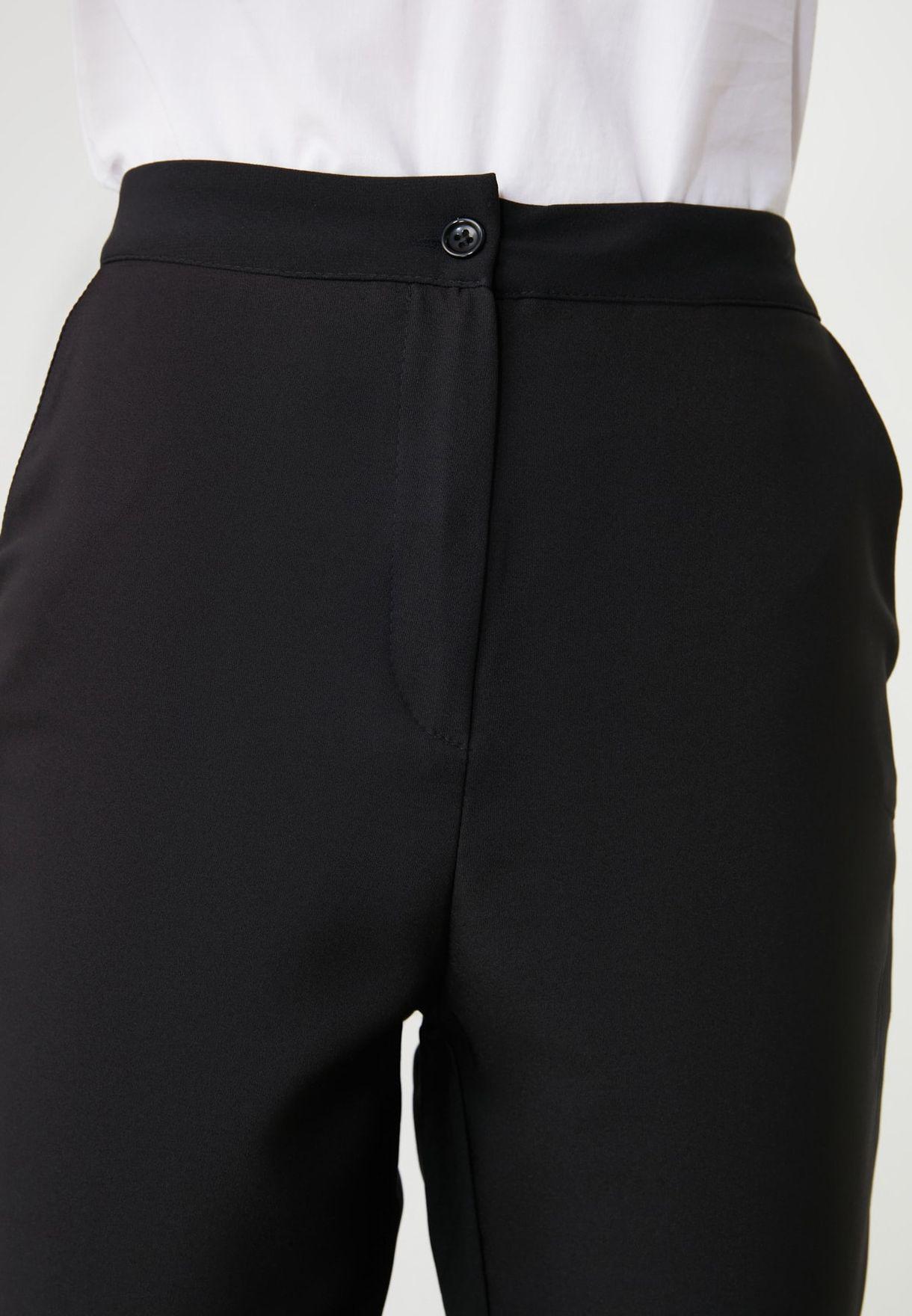 High Waist Ankle Grazer Pants