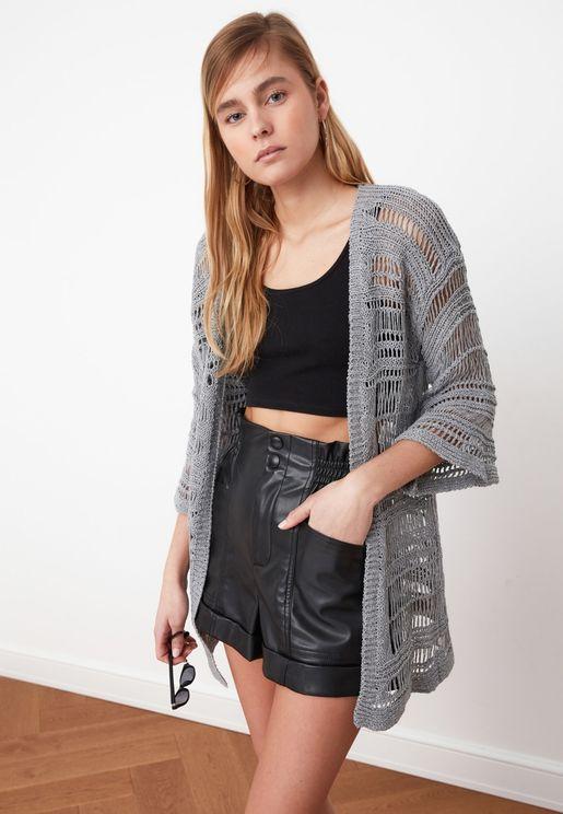 V-Neck Knitwear Cardigan