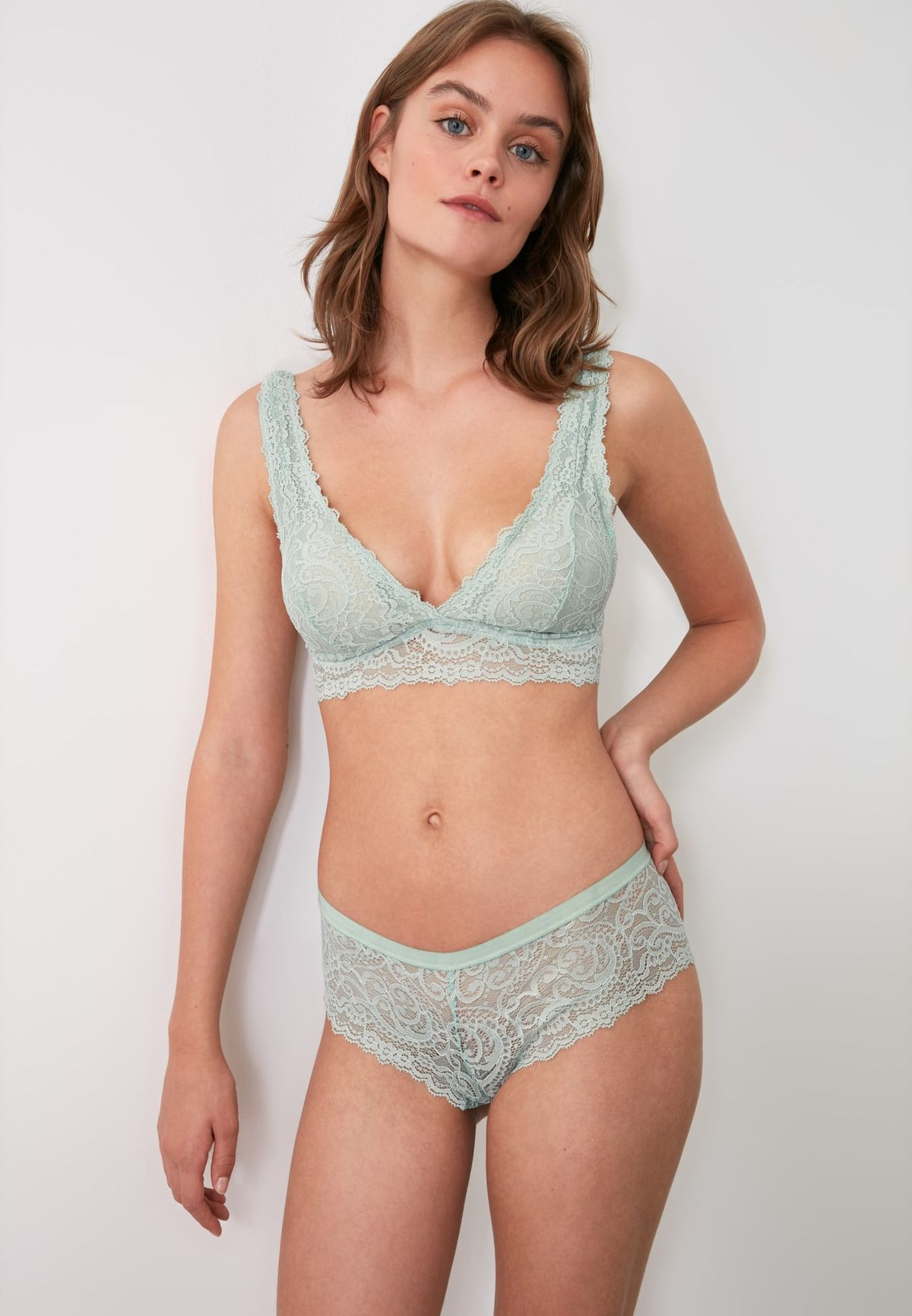 2 Pack Lace Detail Brief