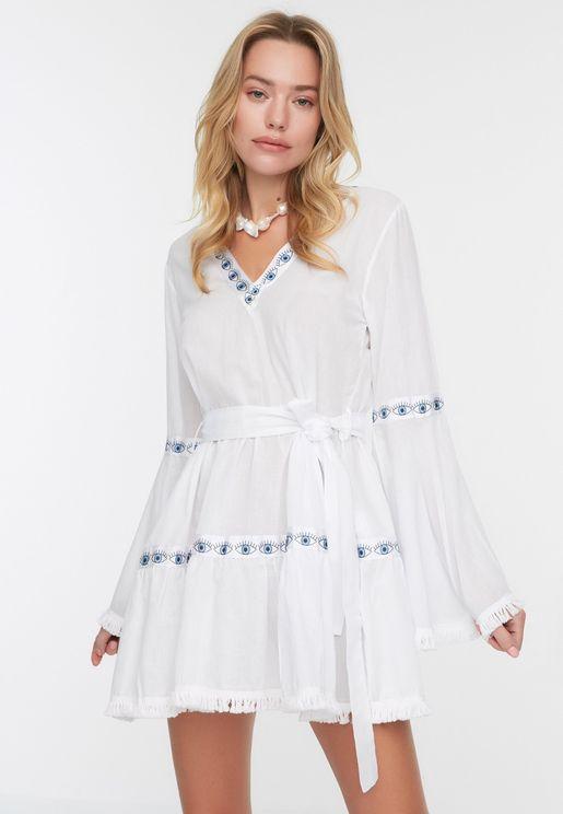 Stripe Detailed Dress