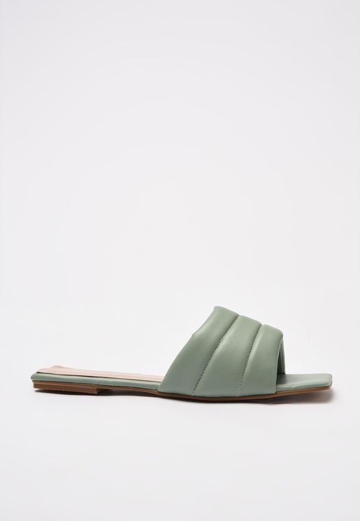 Mint Flat Toe Women'S Slippers