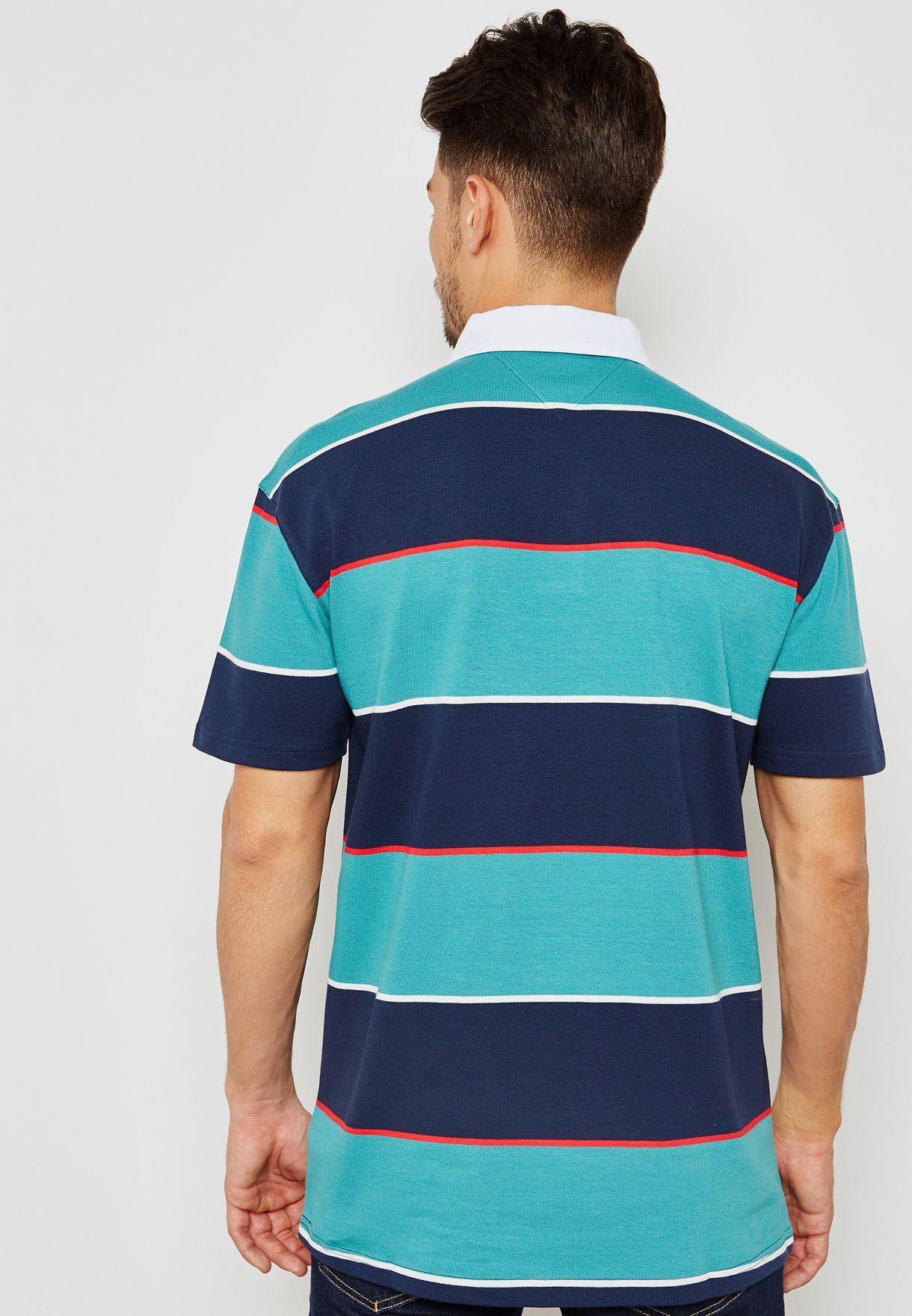Block Stripe Rugby Polo