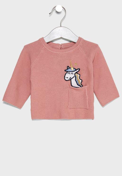 Infant Unicorn Sweater