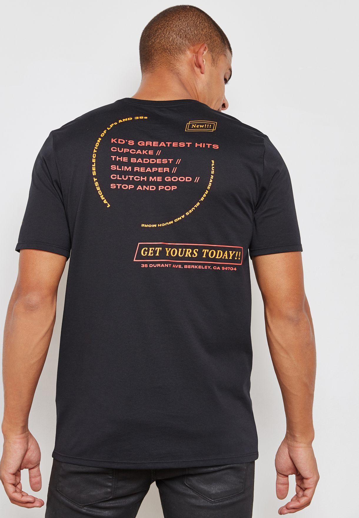 bc61e9d6a80a Shop Nike black Dri-FIT KD T-Shirt AJ2802-010 for Men in Globally ...