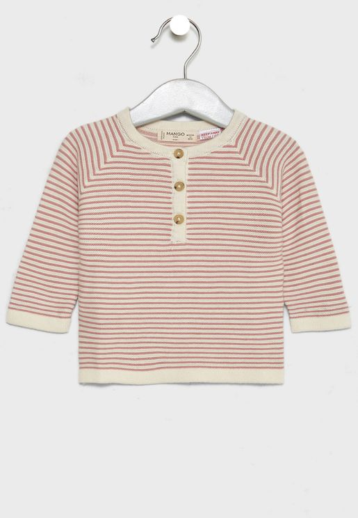 Infant Striped Sweater