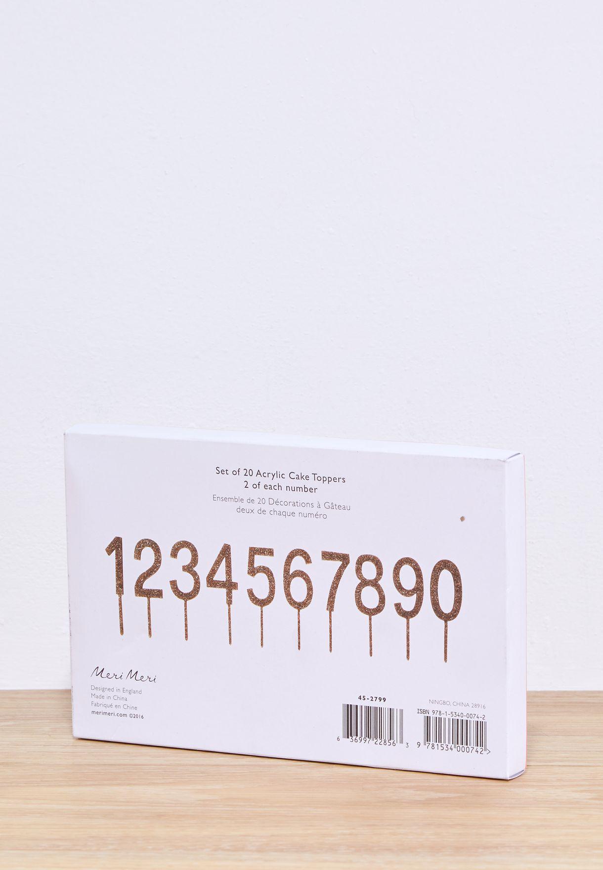 ارقام مزينة للاستعمال في الحفلات