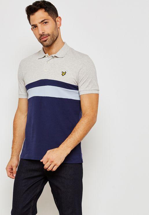Yoke Stripe Polo