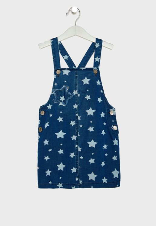 Little Star Print Dungaree