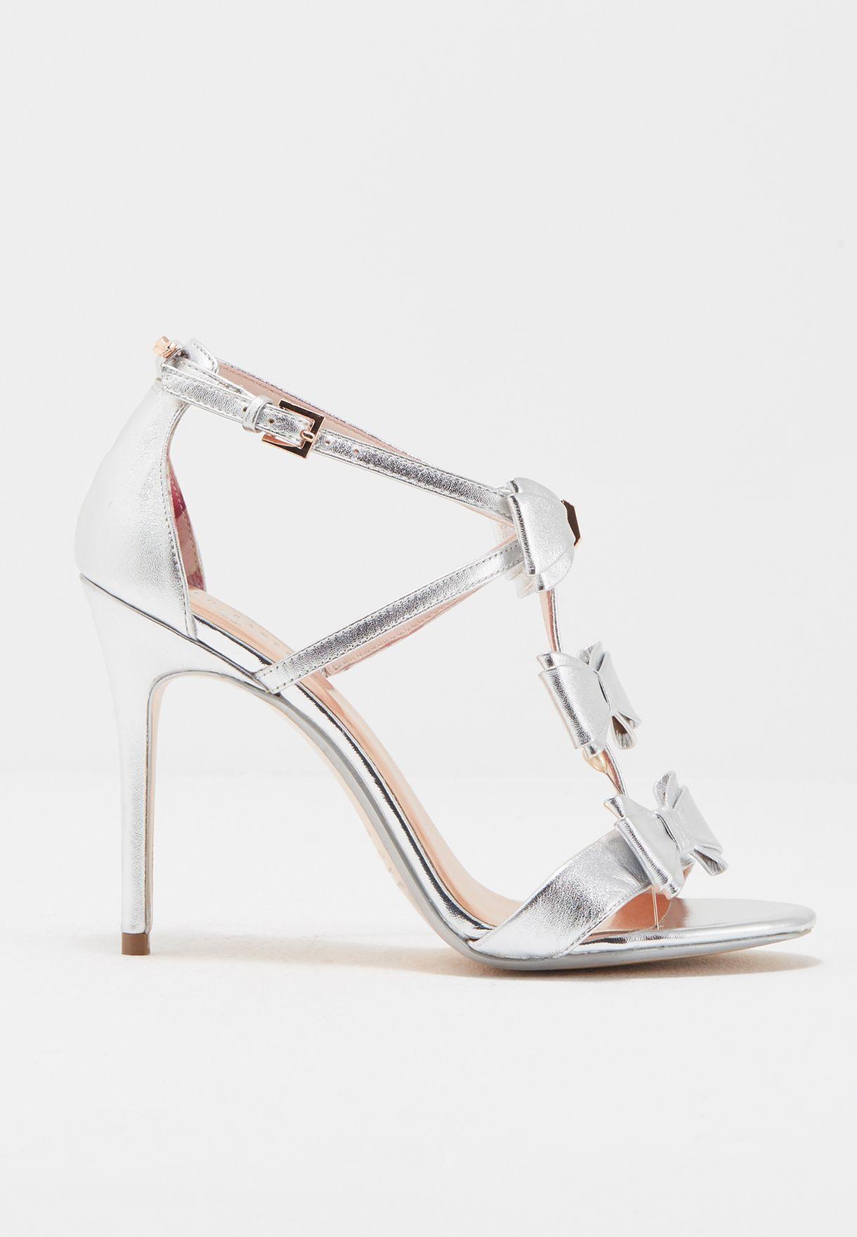6d097969d5124 Shop Ted baker silver Ankle Strap Sandal APPOLINI for Women in Kuwait -  TE456SH94QCV