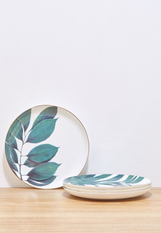 Tropical Leaf Plates Set Of 4