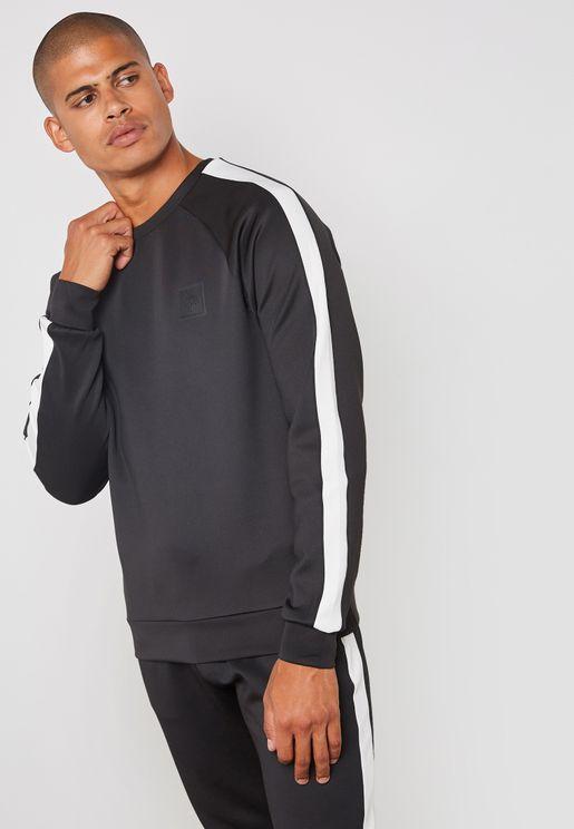 Poly Stripe Sweatshirt