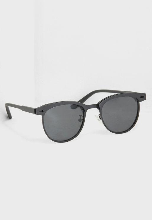 Polarised Lens Clubmaster Sunglasses