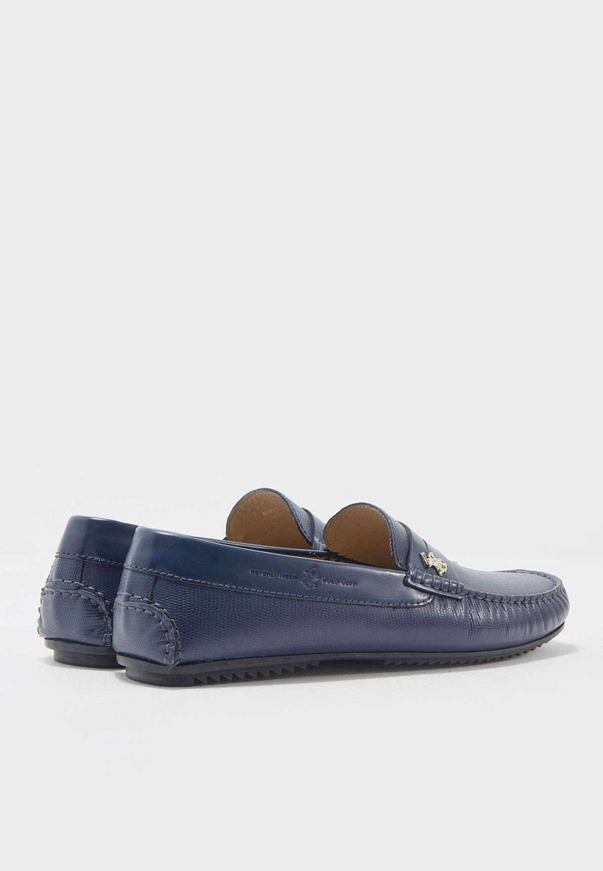 e2f6ed772b9 Shop Beverly Hills Polo Club navy Leather Loafers BP SH9128 for ...