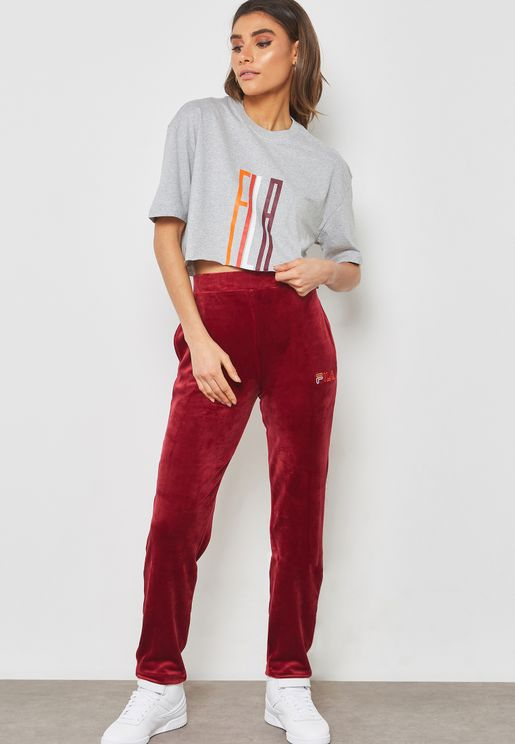 Oriana Velour Sweatpants