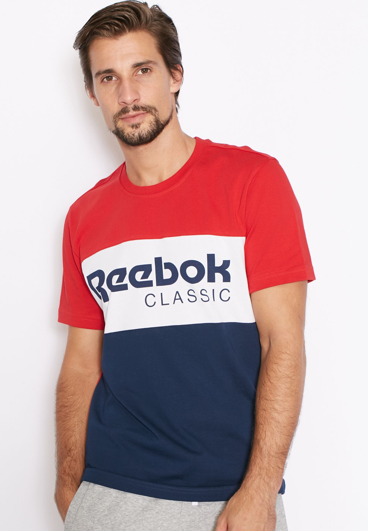 4cfd7efb6778 Shop Reebok red Archive Stripe T-Shirt AY1156 for Men in Bahrain -  RE019AT94NZH
