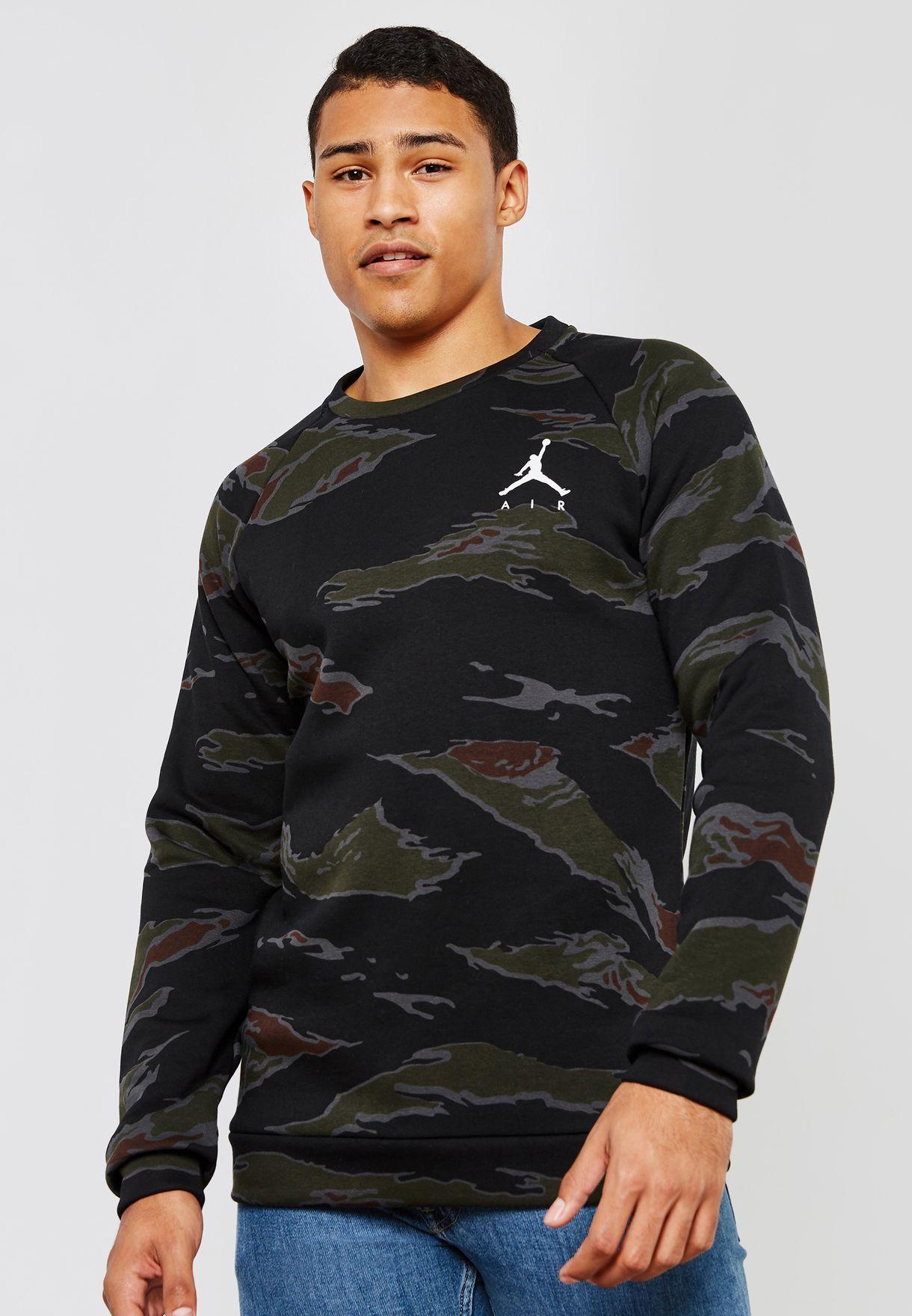 a66e8c5c2eda4e Shop Nike prints Jordan Jumpman Fleece Camo Sweatshirt AV2310-010 ...