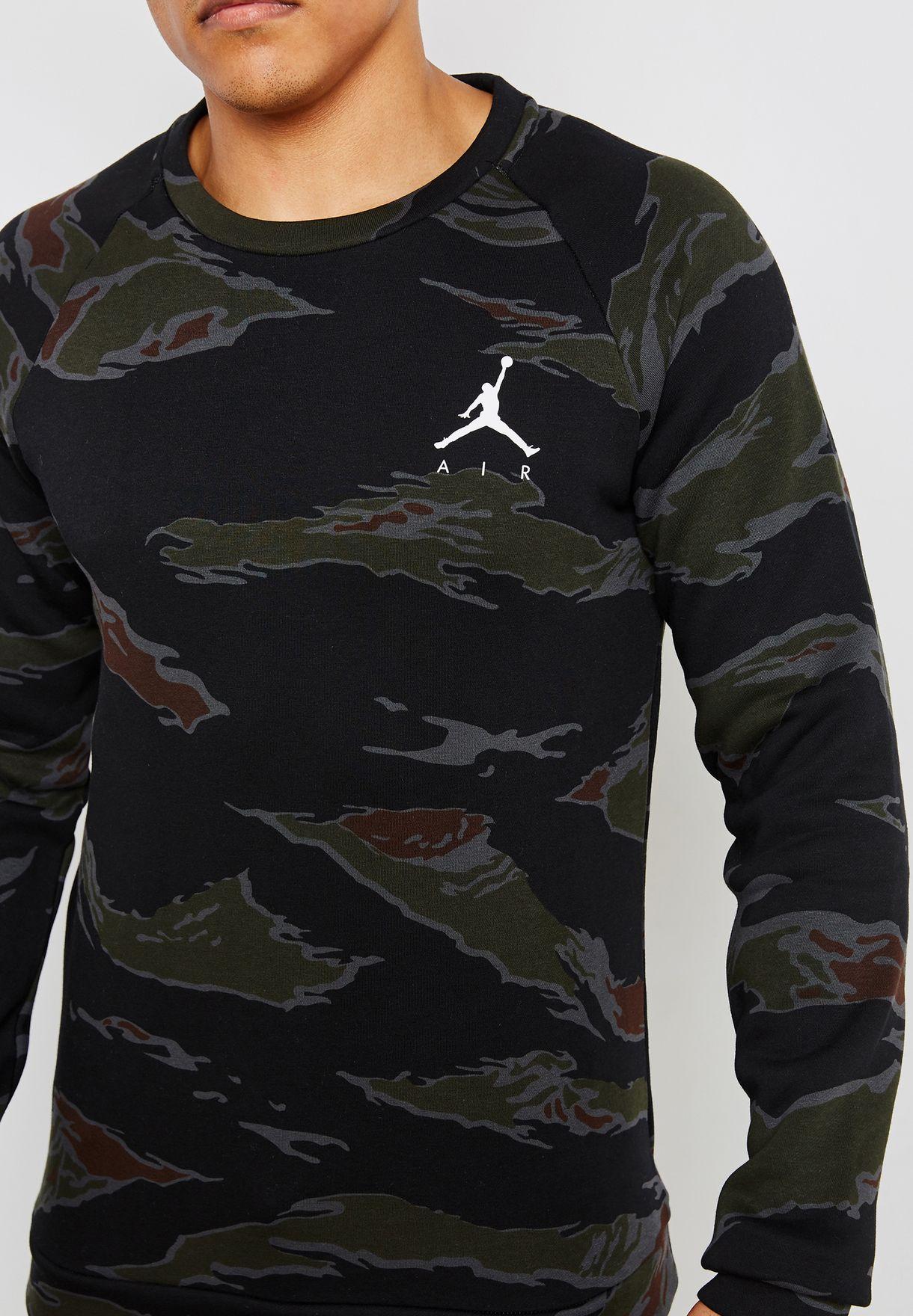 big sale ad7e7 71081 Jordan Jumpman Fleece Camo Sweatshirt