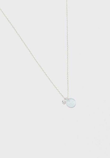 Faceted Stone Drop Necklace