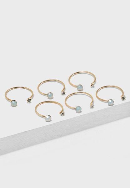 Multipack Opal Rings