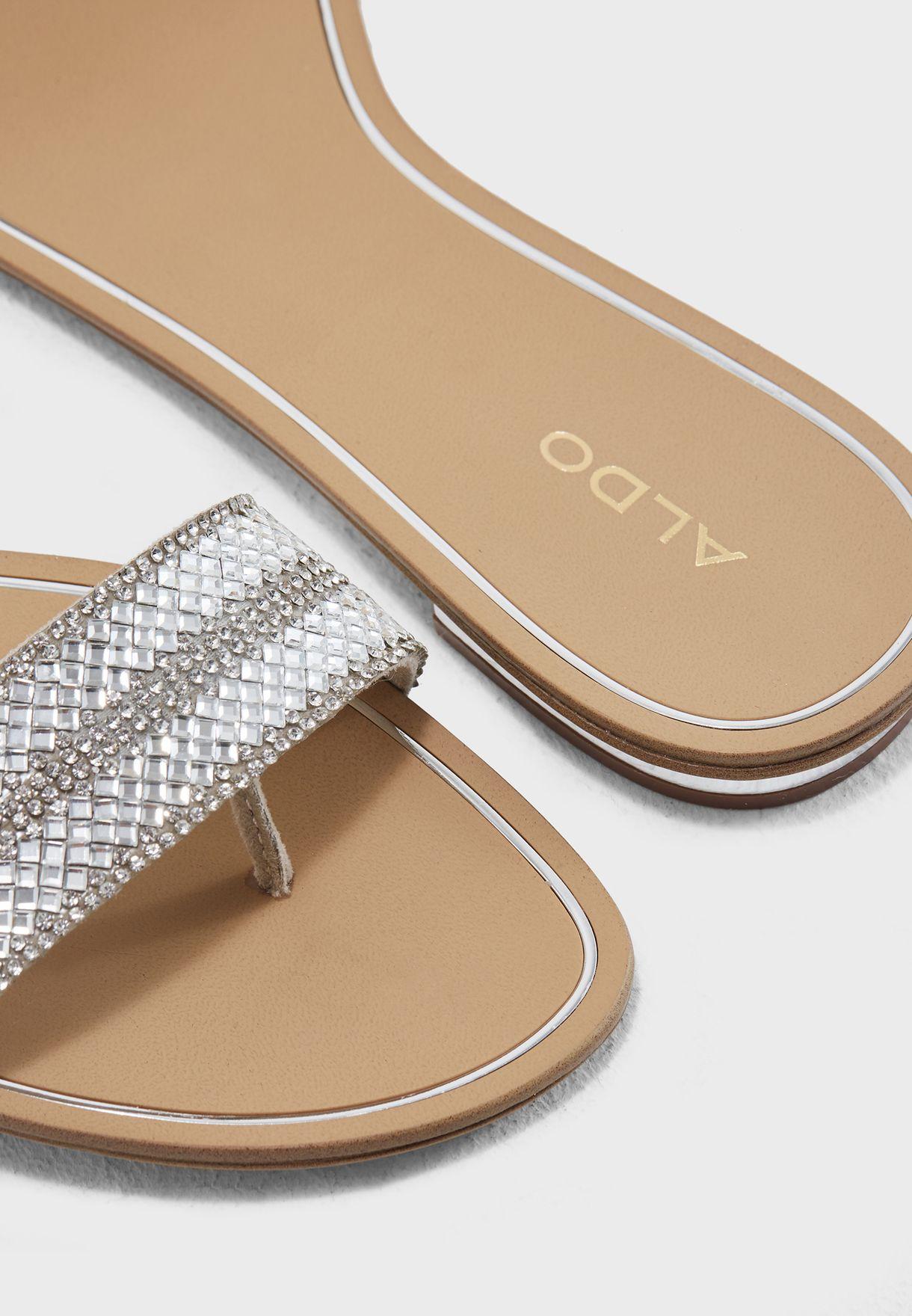 cf8fb7ba2d5 Shop Aldo silver Cadilinna Sandal CADILINNA80 for Women in UAE ...