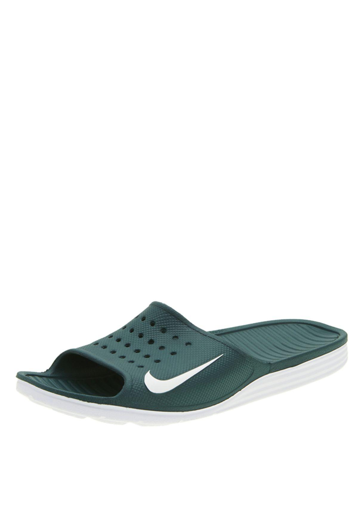 d834e606a9b1a Shop Nike blue Solarsoft Slide Sandals 386163-304 for Men in UAE ...