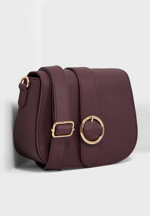 Circle Buckle Crossbody