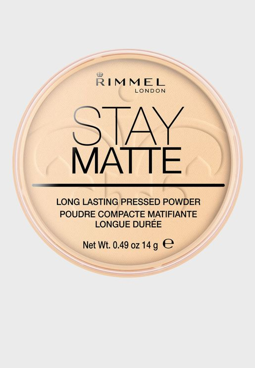 Stay Matte Pressed Powder- 001 Transparent