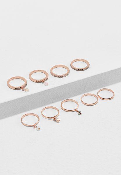 Rose Gold Gem Stone Stacking Rings
