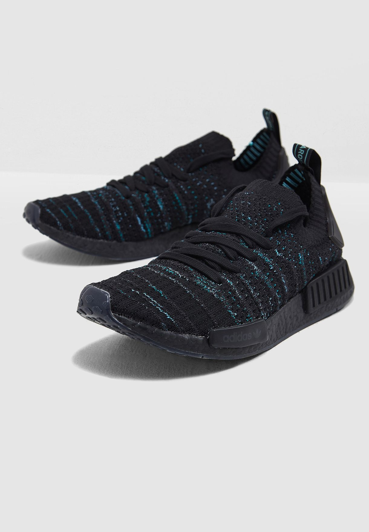 a60888493 Shop adidas Originals black NMD R1 STLT Parley AQ0943 for Men in UAE ...
