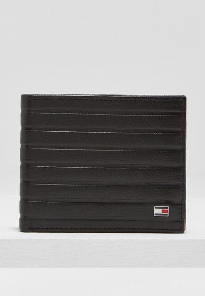 Emboss Stripe Mini Wallet