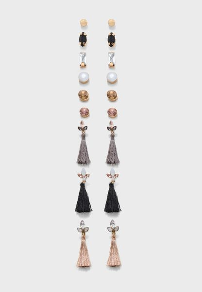 Multipack Tassel Drop And Stud
