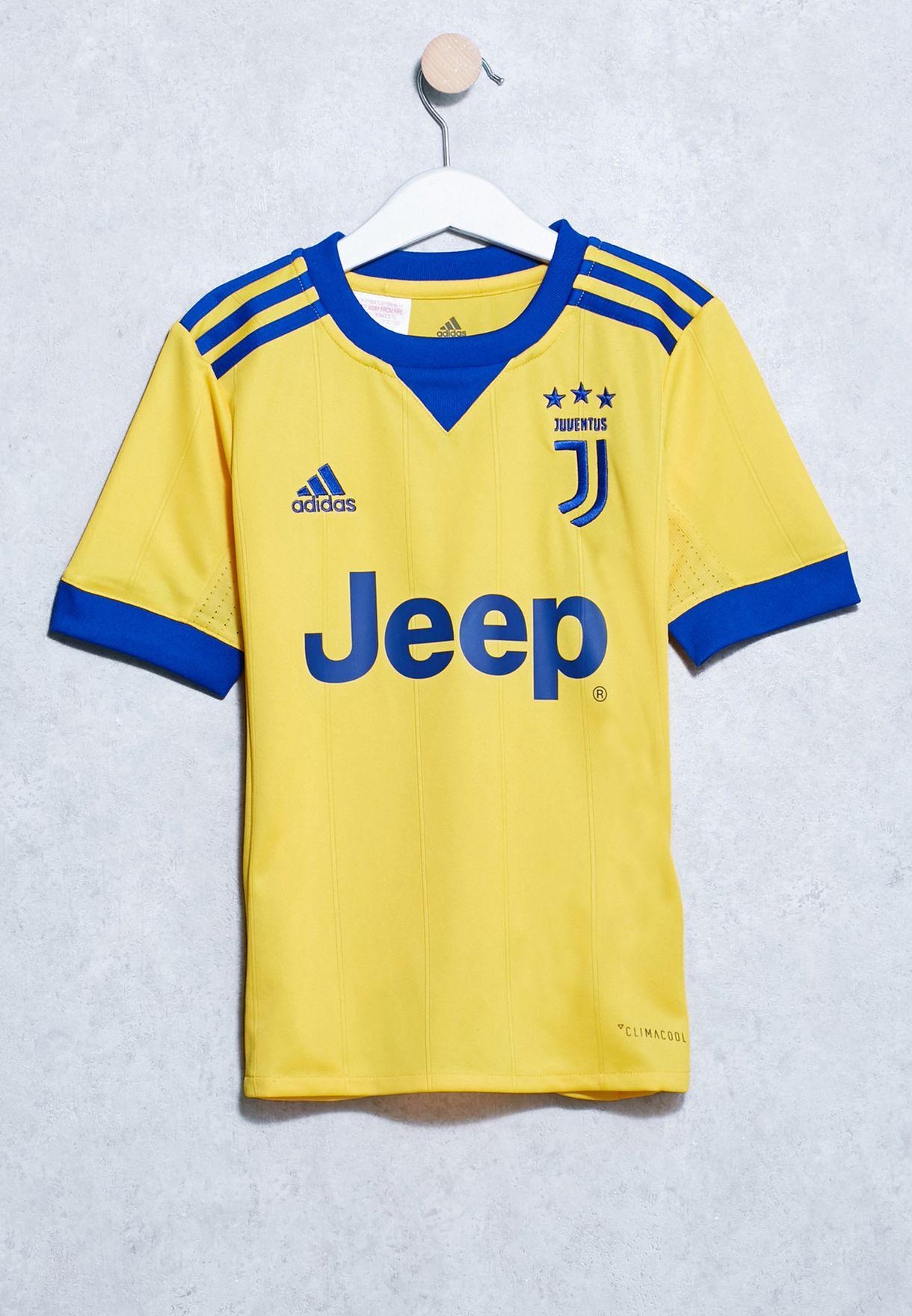Buy Adidas Yellow Youth Juventus Away Jersey For Kids In Mena Worldwide Az8690